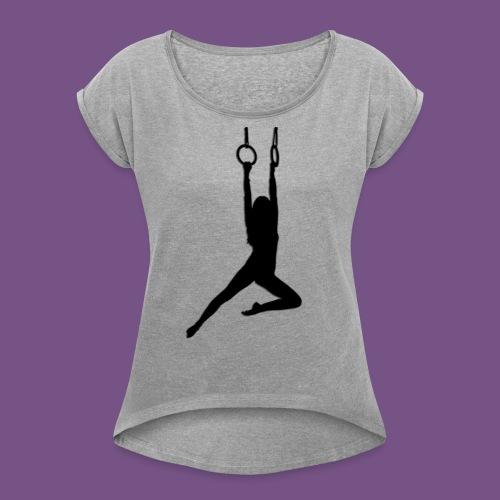 Artist - Frauen T-Shirt mit gerollten Ärmeln
