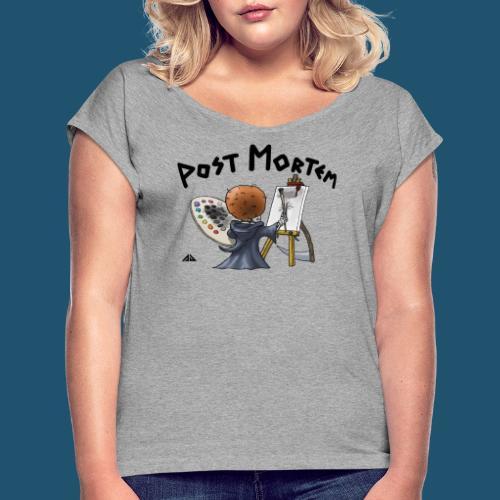 Painting a little friend - T-shirt med upprullade ärmar dam