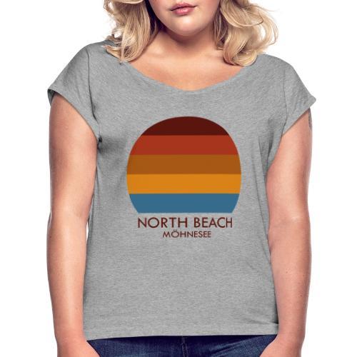 North Beach Möhnesee - Frauen T-Shirt mit gerollten Ärmeln