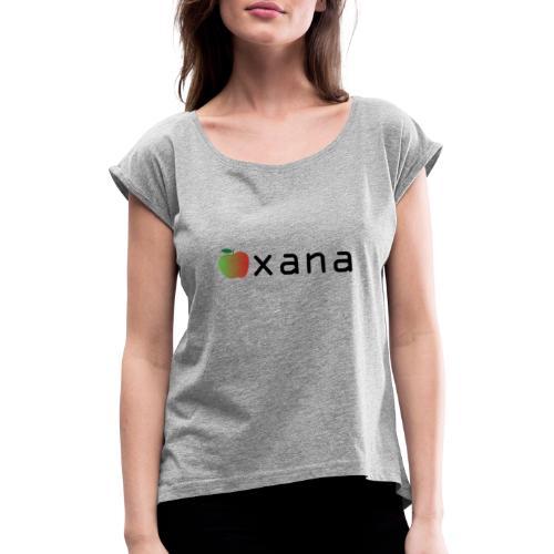 xana/apple - Camiseta con manga enrollada mujer