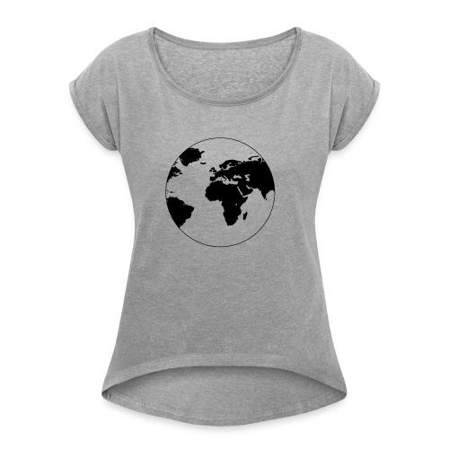 ERDE - Frauen T-Shirt mit gerollten Ärmeln