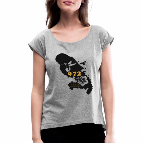 972 MADININA - T-shirt à manches retroussées Femme