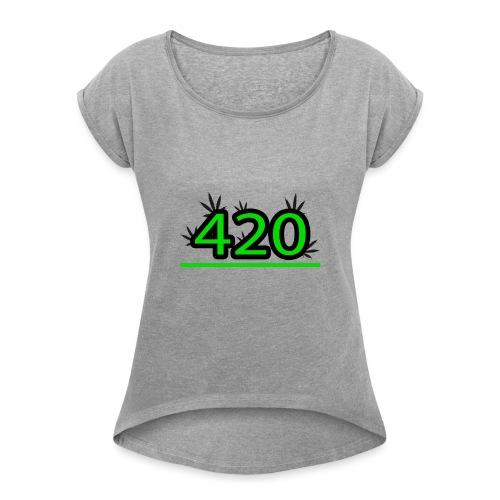 420 - T-shirt à manches retroussées Femme