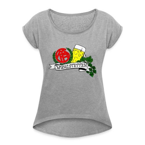 Fanclub Rezattal - Frauen T-Shirt mit gerollten Ärmeln