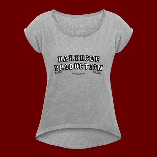 ELMO- BARBECUEPRODUCTION YOUTUBE CRETION - T-shirt à manches retroussées Femme