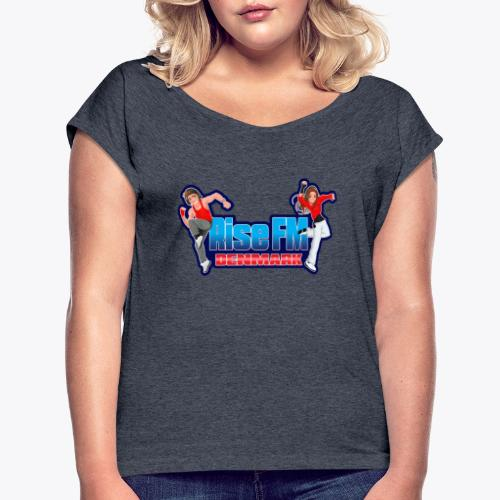 Rise FM Logo - Women's T-Shirt with rolled up sleeves