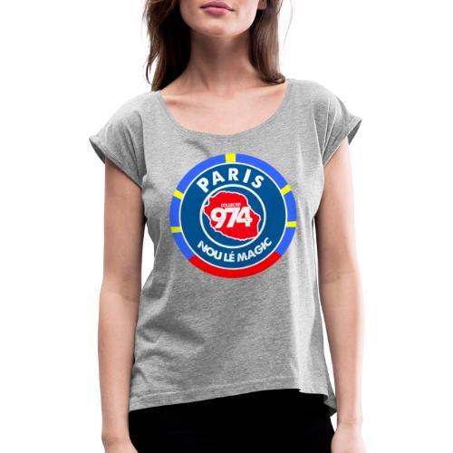 PARIS COLLECTIF 974 - T-shirt à manches retroussées Femme