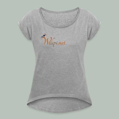 logo wilipi - T-shirt à manches retroussées Femme