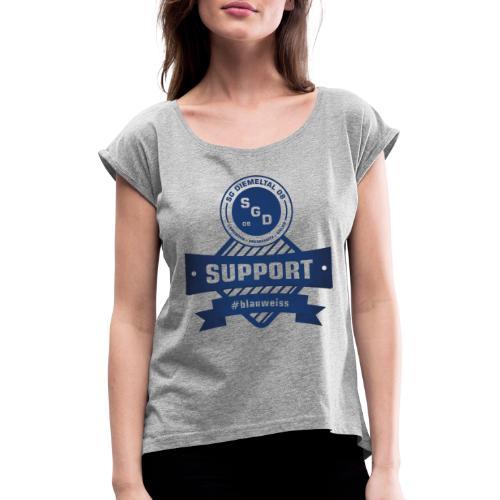 SGD Support #blauweiss - Frauen T-Shirt mit gerollten Ärmeln