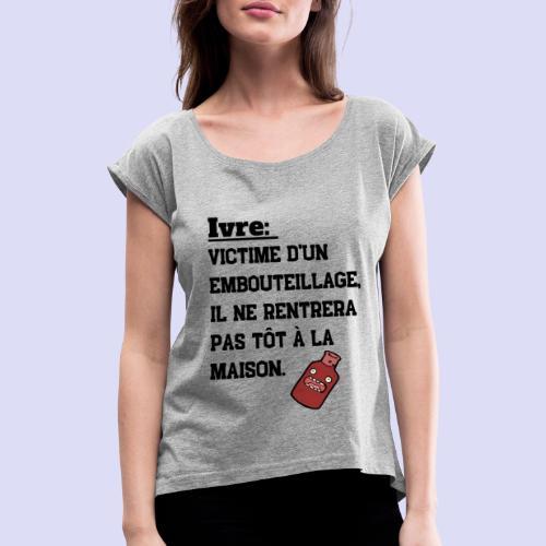 IVRE - T-shirt à manches retroussées Femme