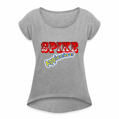 SPIKE Appicciat - Maglietta da donna con risvolti