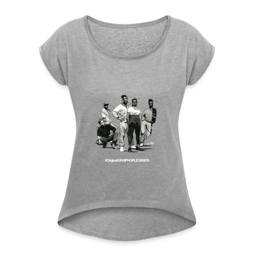 Katch22 - Women's T-Shirt with rolled up sleeves