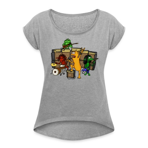 Kobold Metal Band - Women's T-Shirt with rolled up sleeves