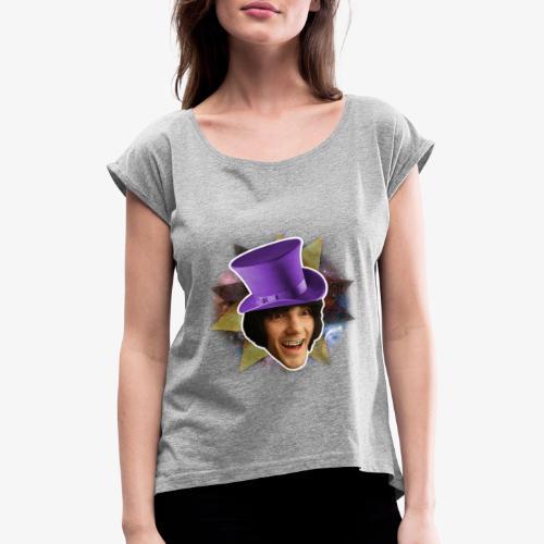 The Miley Curseword Face - T-shirt med upprullade ärmar dam