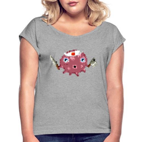 Ollie The Octopus - Vrouwen T-shirt met opgerolde mouwen