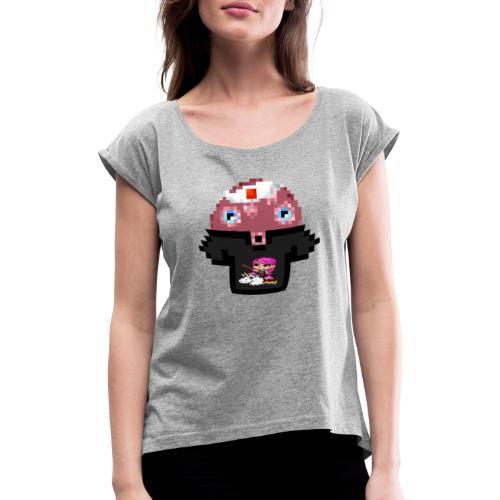 Ollie Merchandise - Vrouwen T-shirt met opgerolde mouwen