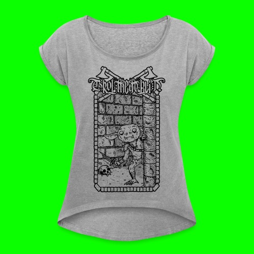 Return to the Dungeon - Women's T-Shirt with rolled up sleeves