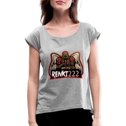 Renki222 - Frauen T-Shirt mit gerollten Ärmeln