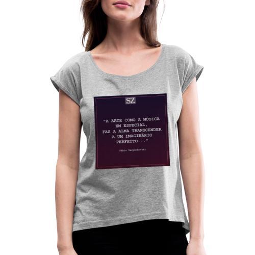 soulzone studioonline BhHGIJ2AoiK - Camiseta con manga enrollada mujer