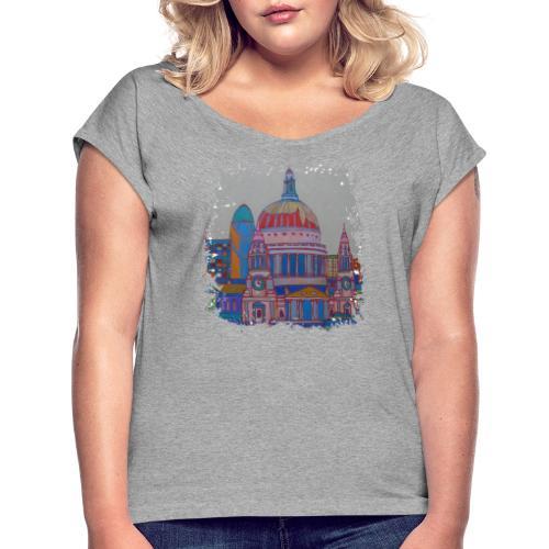 London - Frauen T-Shirt mit gerollten Ärmeln