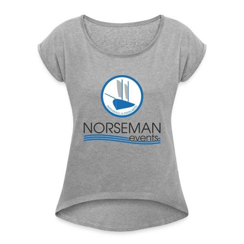 norseman logo - Frauen T-Shirt mit gerollten Ärmeln