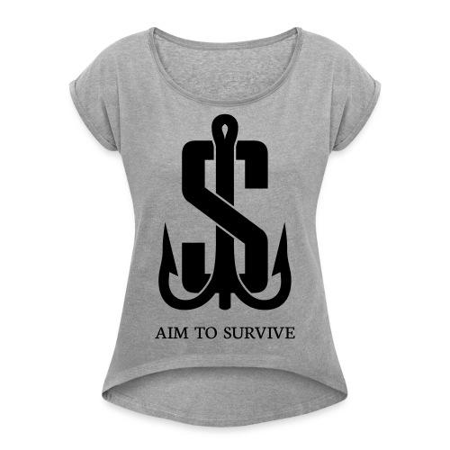 Angelharken - Frauen T-Shirt mit gerollten Ärmeln
