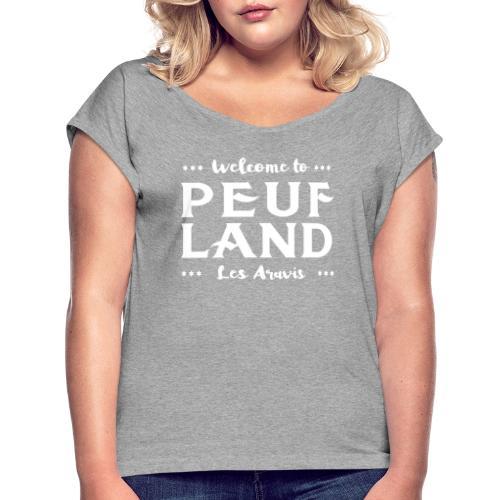 Peuf Land Aravis - White - T-shirt à manches retroussées Femme