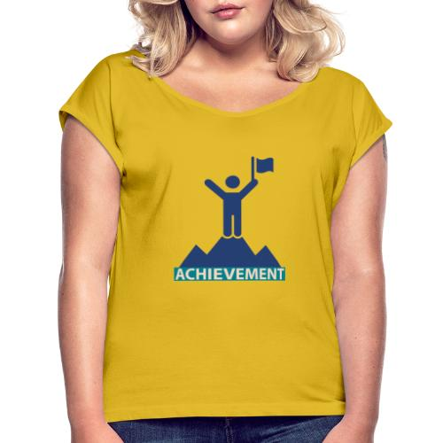Typo Achivement by CloudMonde - Women's T-Shirt with rolled up sleeves