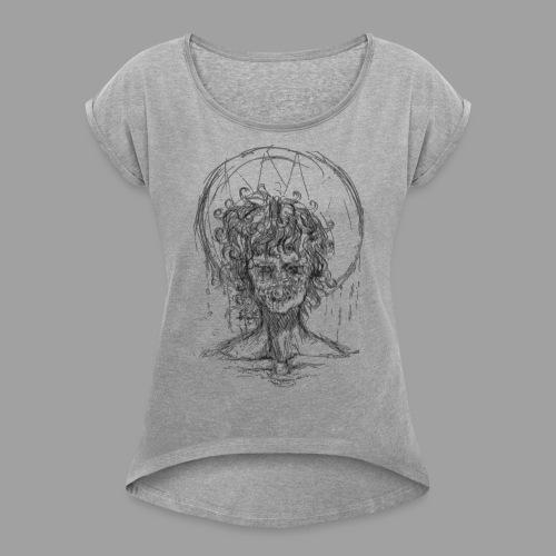 Chérubin SHEOL Noir - T-shirt à manches retroussées Femme