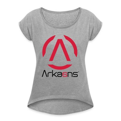 Arkaans Global - T-shirt à manches retroussées Femme