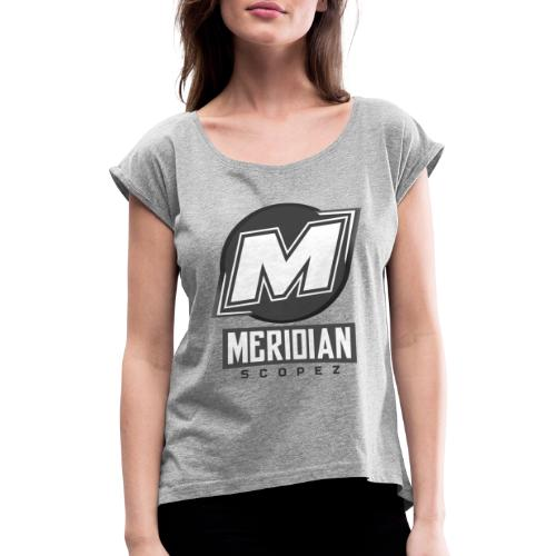 Offizielles sc0pez merch - Frauen T-Shirt mit gerollten Ärmeln