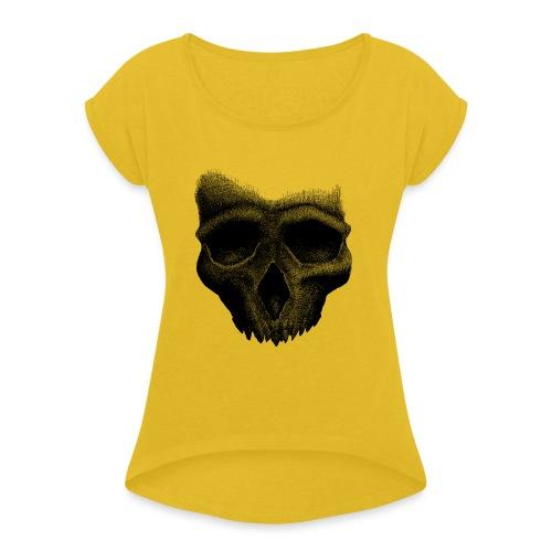 Simple Skull - T-shirt à manches retroussées Femme