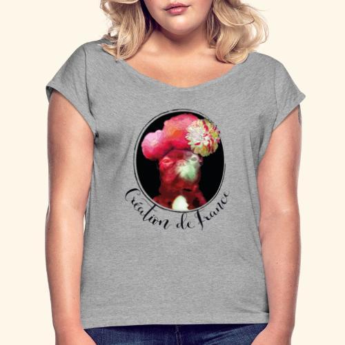 Création de France - T-shirt à manches retroussées Femme