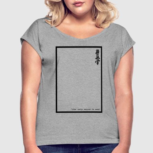 performance tshirt - Vrouwen T-shirt met opgerolde mouwen