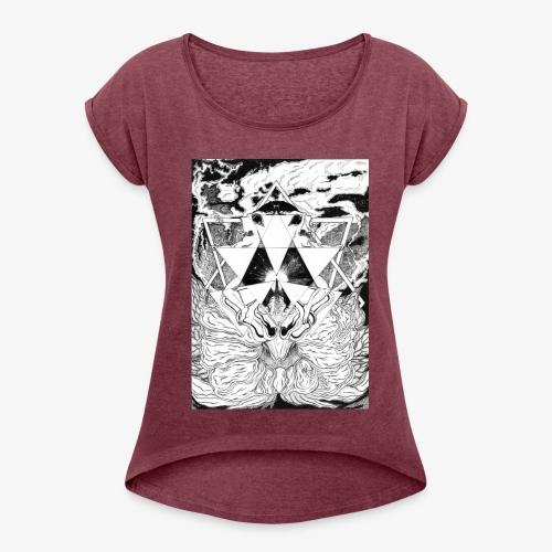 Primal Ordeal by Rivinoya - Naisten T-paita, jossa rullatut hihat