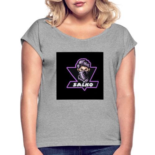 IMG 20200423 WA0000 - Frauen T-Shirt mit gerollten Ärmeln