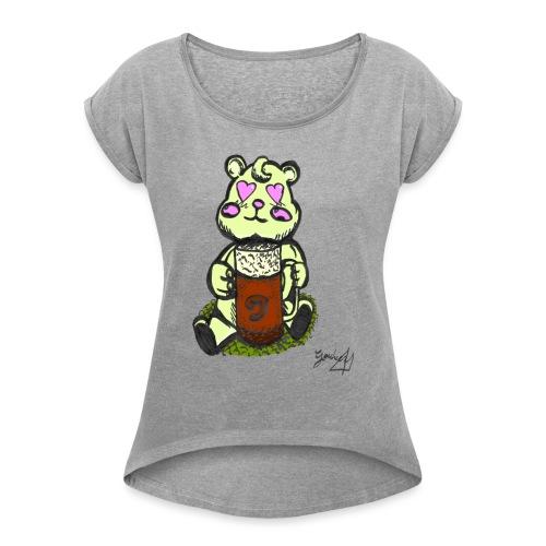 Ours Amoureux AngelerasCorp - T-shirt à manches retroussées Femme