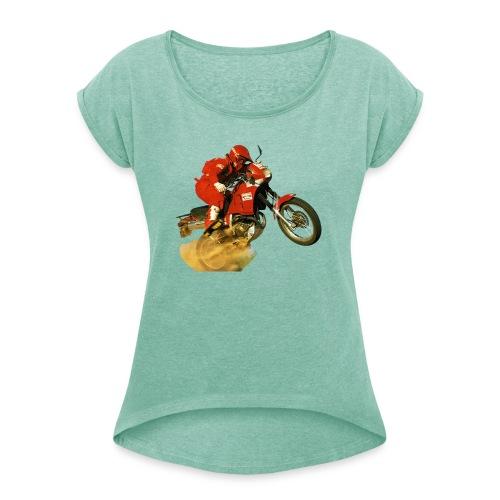 Marlboro-Nixe - Vrouwen T-shirt met opgerolde mouwen