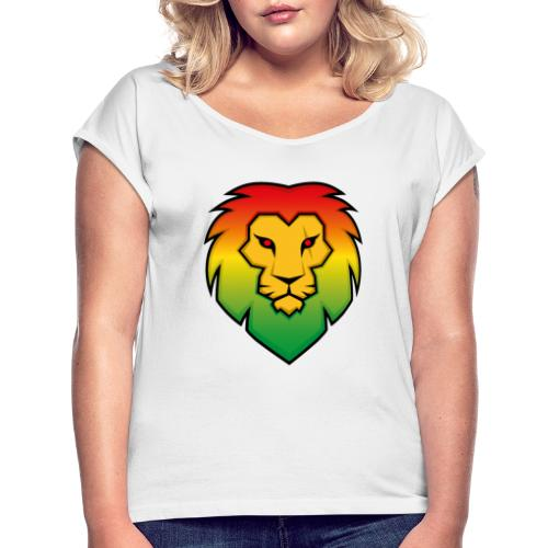 Ragga Lion - Women's T-Shirt with rolled up sleeves
