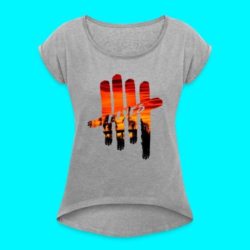 fives vibes - T-shirt à manches retroussées Femme