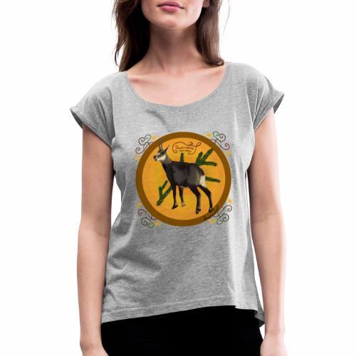 Die Gemse - Frauen T-Shirt mit gerollten Ärmeln