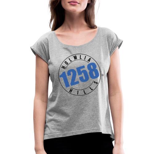 Holmlia Hills 90210 - T-skjorte med rulleermer for kvinner