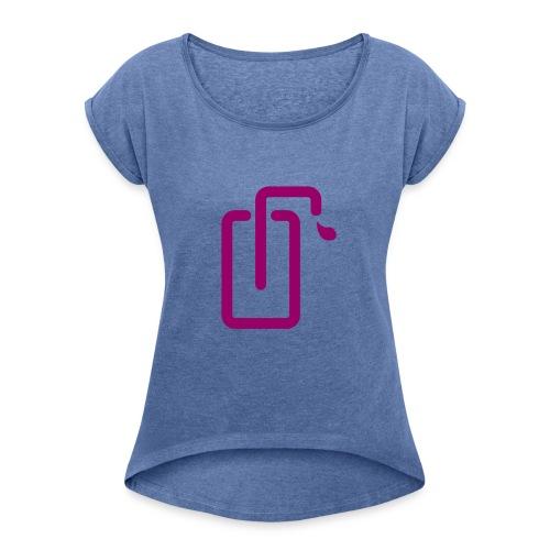 Liquidsoap logo - T-shirt à manches retroussées Femme