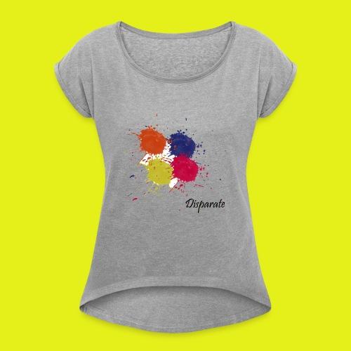 Camiseta 3 - Camiseta con manga enrollada mujer