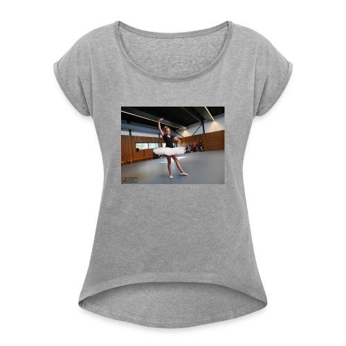 mok - Vrouwen T-shirt met opgerolde mouwen
