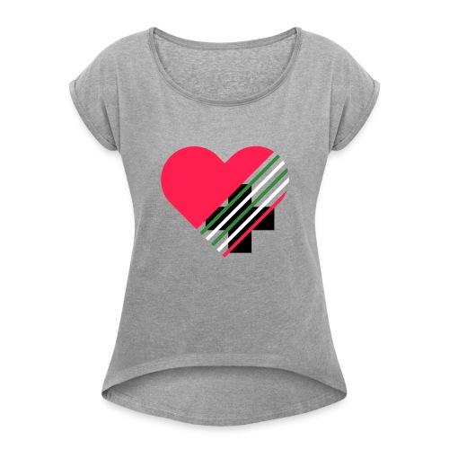 Jugendkreis Kleinglattbach - Frauen T-Shirt mit gerollten Ärmeln
