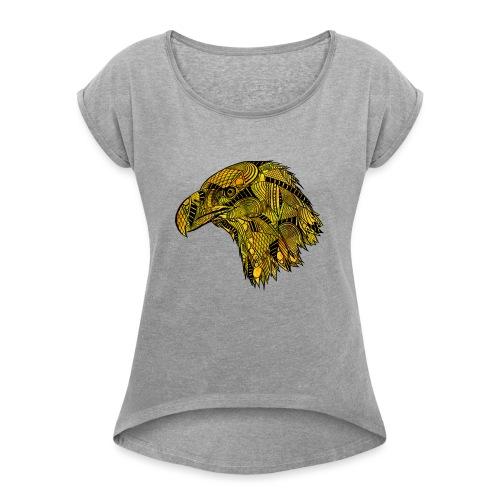 Gul ørn - T-skjorte med rulleermer for kvinner