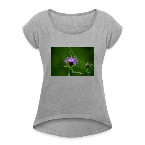 Julzin - Die Leidenschaft zur Natur - Variante 19 - Frauen T-Shirt mit gerollten Ärmeln