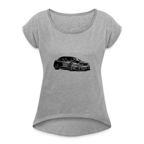 C63 - Frauen T-Shirt mit gerollten Ärmeln