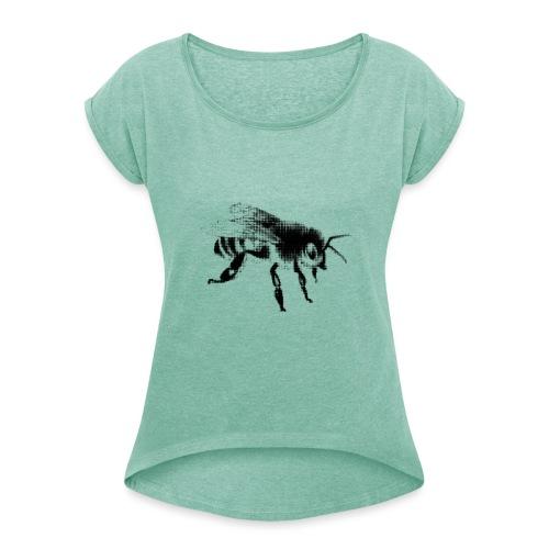 Honungsbi - T-shirt med upprullade ärmar dam